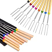#LightningDeal Ezire Roasting Sticks, Marshmallow Roasting Sticks 32 Inch Extendable Forks for BBQ at The Campfire