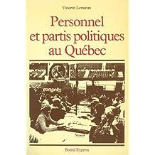 Personnel et partis politiques au Québec