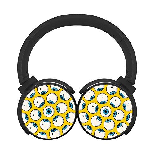 Hei Bai.J Halloween wallpaper Headphones Over-ear Stereo Fold Wireless Bluetooth Earphone Black -