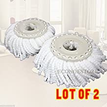 Lot Of 2 Replacement Mop Micro Head Refill Hurricane For Magic Mop 360° Spin