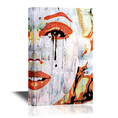 wall26 - Canvas Wall Art - Marilyn Monroe Portrait in Oil Painting Style - Gallery Wrap Modern Home Decor | Ready to Hang - 16x24 inches