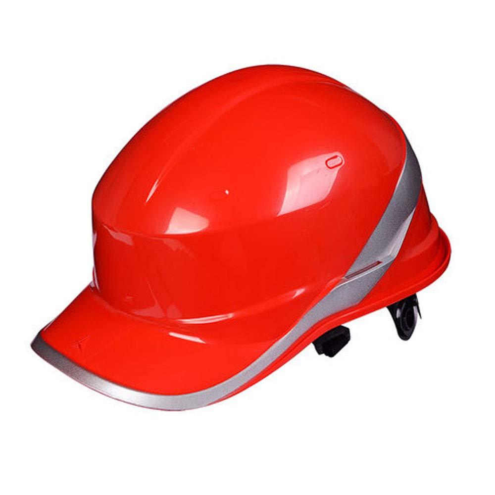 XMGJ Schutzhelme Bau Helm-Mü tze Style Hard Hat, 6-Punkt-Ratsche Suspension Durable Schutz Schutzhelm Verstellbare Helm Kopfschutz (Farbe : Gelb) Xiao Mi Guo Ji Shop