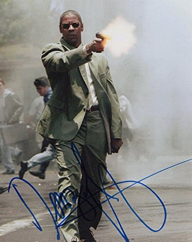 Denzel Washington - Signed 8x10 Photograph in Mint Condition COA PROOF