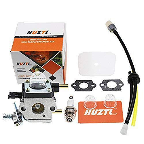 HUZTL C1U-K54A Carburetor Repower Kit Air Fuel Filter Gasket for 2 Cycle Mantis 7222 7222E 7222M 7225 7230 7234 7240 7920 7924 Tiller Cultivator Echo by