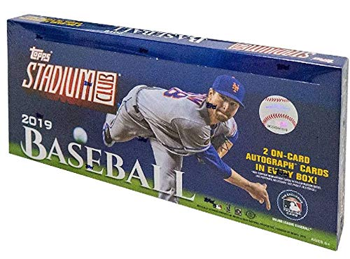 Topps Mlb Box - 2019 Topps Stadium Club MLB Baseball HOBBY box (16 pks/bx)