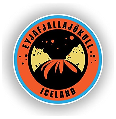 Eyjafjallajokull Iceland Vinyl Stickers Travel Luggage   Sticker Graphic   Auto  Wall  Laptop  Cell  Truck Sticker For Windows  Cars  Trucks