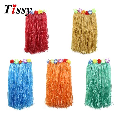 HATABO Wedding Decor Supplies Wedding 1PCS Length 60CM Adult Fashion Hawaiian Style of Plastic Fibers Grass Skirts for Party Event Party (Random) for $<!--$16.99-->