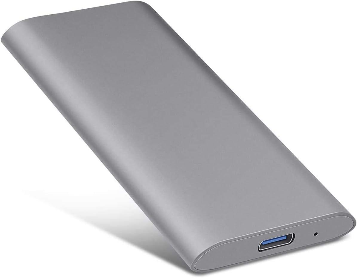External Hard Drive USB3.1 Type C Hard Drive - Portable 1TB 2TB Hard Drive External Strong Storage HDD for PC, Mac, Desktop, Laptop, Xbox one (A-2TB-grey)