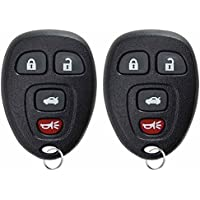 KeylessOption Keyless Entry Remote Control Car Key Fob Replacement 15912859 (Pack of 2)