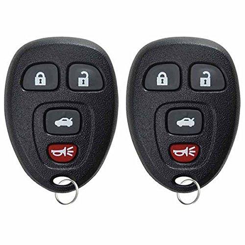 (KeylessOption Keyless Entry Remote Control Car Key Fob For Impala Lucerne DTS Monte Carlo 15912859 (Pack of 2))