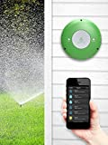 "GreenIQ Smart Sprinkler Controller 6 Zone Wi-Fi Waterproof Hub + GreenIQ 1"" Flow Meter - Works with Alexa"