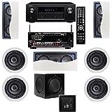 Klipsch R-2502-W II In-Wall Speaker (LCR) 7.1 Denon AVR-X2100W 7.2