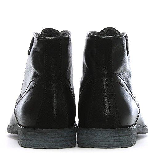 Daniel Prentis Nero Cuoio Stivaletti Black Leather