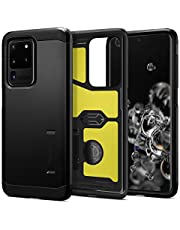 SPIGEN [Tough Armor] Galaxy S20 ULTRA Case Cover with Heavy Duty, Military-Grade Protection and Integrated Kickstand Designed for Samsung S20 ULTRA (2020) - Black