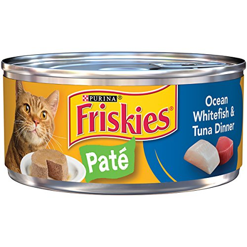 Purina Friskies Pate Ocean Whitefish & Tuna Dinner Cat Food - (24) 5.5 Oz. Pull-Top Can