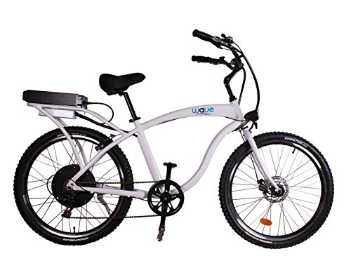 Wave Electric Bike Beach Cruiser - Lightweight Aluminum Frame ...