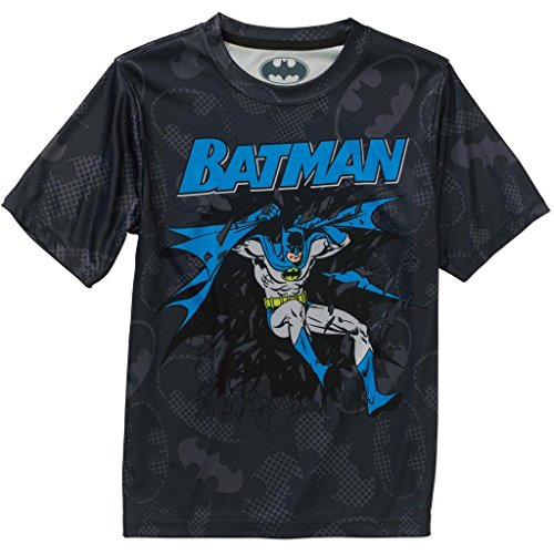 DC Comics Batman Boys Performance Tee (Small 6/7)