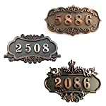 """Aspire Customized Home Address Sign, House Hotel Office Number Sign, Address Plaque Sign, Small Size, Aprox 4.5"""" L x 7.5"""" W"""