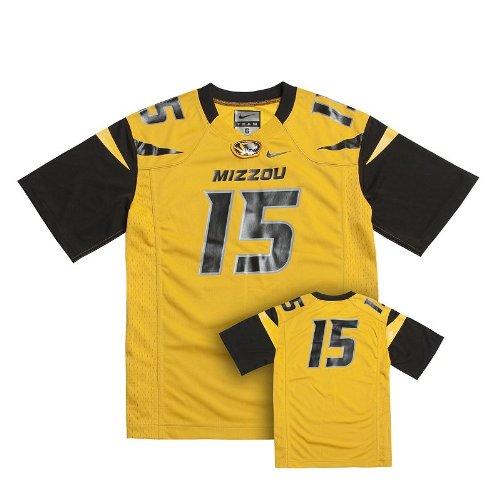 Nike Missouri Tigers #15 Gold Football Jersey Boys Kids Size 6 Years Old