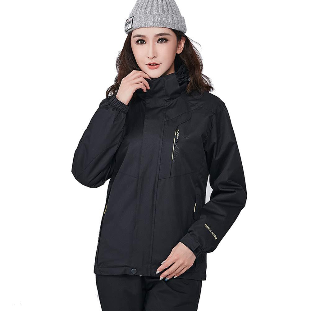Black RSTJSjcw Women's Waterproof Fleece Mountain Jacket Winter Snowboarding Jacket