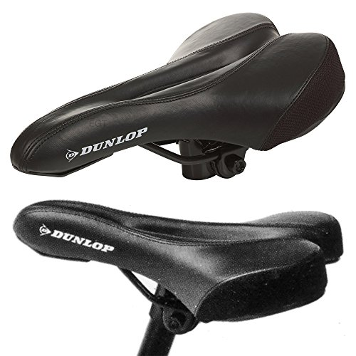 Dunlop Bicycle Bike Cycle MTB Saddle Mountain Road Sporty Padded Seat Universal
