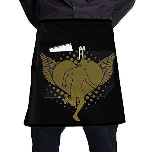 Cross Country Short Bistro Half Aprons for Men Women, 17x21 inches