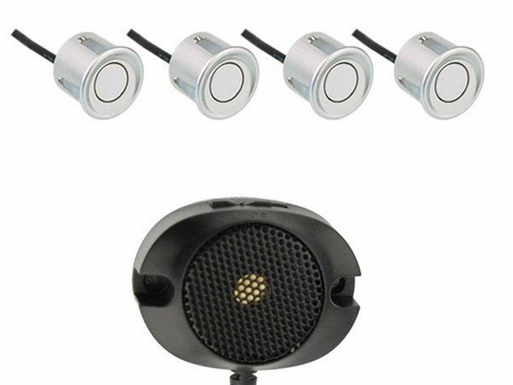 M-Tech cp7s aide au stationnement 4 capteurs avec haut-parleur Argent