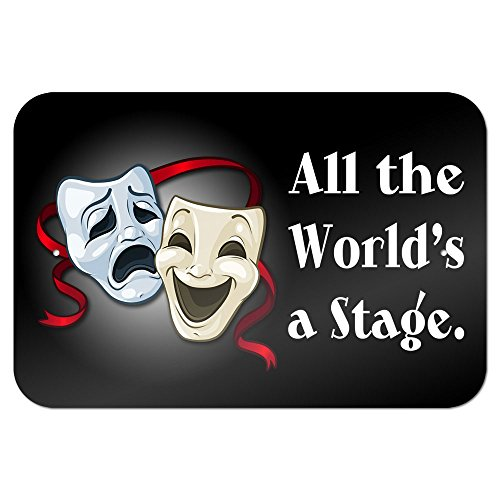 All the World's a Stage Comedy Tragedy Drama Masks - Acting Theatre Theater 9
