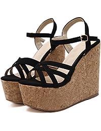 Fashion Women Platform High Heel Shoes Sandals Strap Open Toe Heels