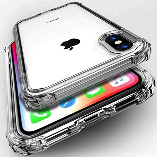 ASD Accessories iPhone XR, Clear Shockproof Bumper Case Soft TPU Silicone Case Cover[Drop Protection] Crystal Gel Case…