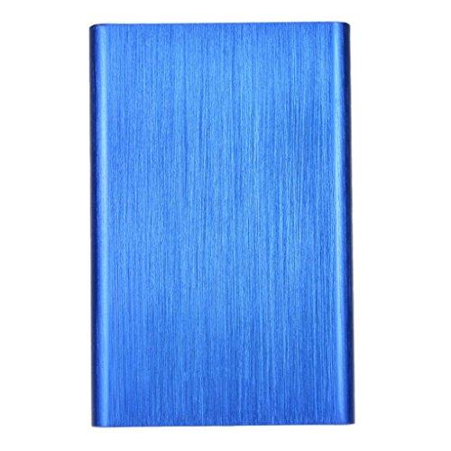 Clearance ! ღ Ninasill ღ Exclusive USB3.0 1TB External Hard Drives Portable Desktop Mobile Hard Disk Case (Blue)