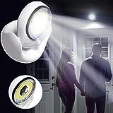 Mintu 360-Degrees Swivels Sensor Light, Cordless Motion Activated Battery Powered LED Light For Anywhere Nightlight,Wall Light for Entrance,Hallway,Basement,Garage,Bathroom,Cabinet,Closet