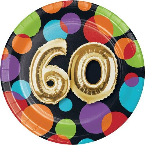 Creative Converting 332485 Metallic Gold Party Plate, 7'' Multicolor