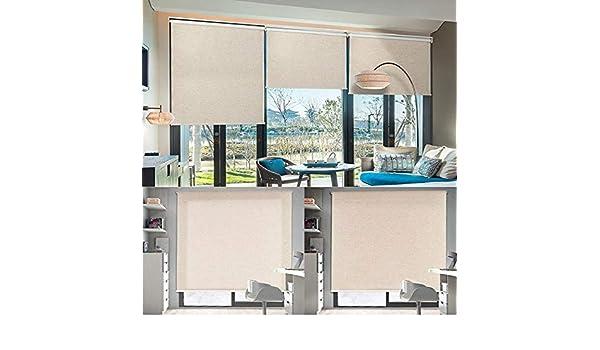 Manual/motorizado ventana cortina enrollable lino (nº 360) websize precio en Manual (1pc, 39