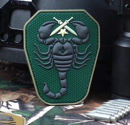 SCORPION unidad 3d pvc nos Ejército EE. UU. Militar Tactical moral parche de Velcro Forest: Amazon.es: Juguetes y juegos