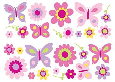 Fun4Walls SA30149 Flowers and Butterflies Wall Stickers