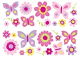 Fun4Walls SA30149 Flowers and Butterflies Wall Stickers Review and Comparison