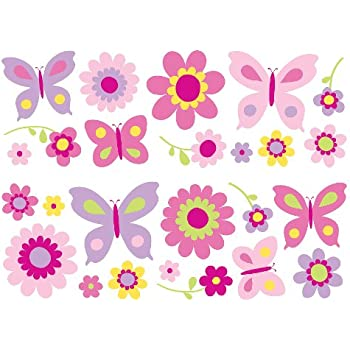 Fun4Walls SA30149 Flowers And Butterflies Wall Stickers Part 78