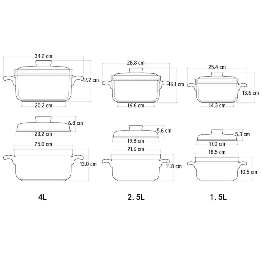 Unbekannt LINGZHIGAN Hochtemperatur-Keramik-Auflauf-Eintopf-Topf-Feuer Claypot-Brei-Topf-Eintopf-Topf mit Suppe-Kasserolle 1.5L (Farbe     A) B07JJDK567 Terrinen 29c183