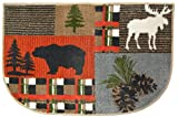 Wholesale Rug Source Bear Moose Nonskid (Non Slip) Cute Lodge Pinecone Kitchen Mat Rug, 19'' W x 29'' L
