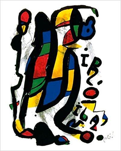 Miro Abstract Painting - Milan (Milano) 1981 by Joan Miro 32x24 Museum Art Print Poster Abstract