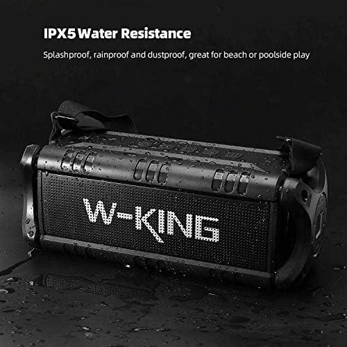 50W(70W Peak) Wireless Bluetooth Speakers Built-in 8000mAh Battery Power Bank, W-KING Outdoor Portable Waterproof TWS, DSP, NFC Speaker, Powerful Rich Bass Loud Stereo Sound 51CdO6mSZZL
