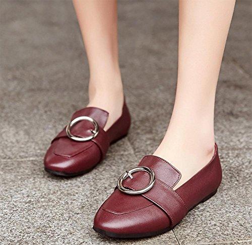 Mme de printemps de chaussures dascenseur chaussures peu profondes simples bouche fixées chaussures métalliques pied avec tête carrée plus bas dans les chaussures chaussures de dames , US7.5 / EU38 /