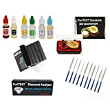 Deluxe PuriTEST Jeweler's Hand Tool Pack- Diamond Tester, Stones, Files, Precious Metal Acid Test, Loupe and MORE!