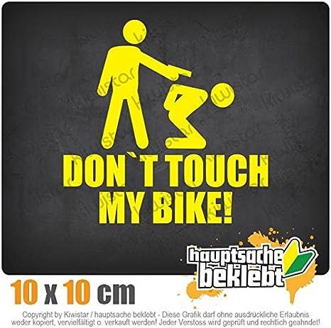 Autoaufkleber Sticker Bomb Decals Tuning Bekleben Dont touch my Bike! KIWISTAR Aufkleber