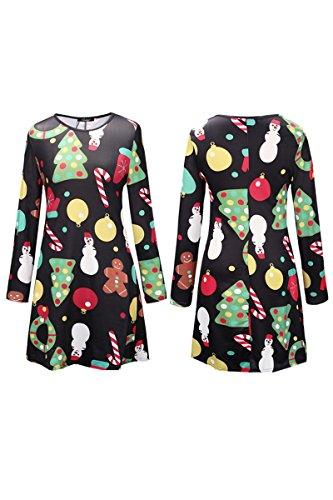 YMING Damen Langarm Kleid Lose T-Shirt Kleid Rundhals Casual Tunika Mini  Kleid 14 Farben ... 5e88fcdd59