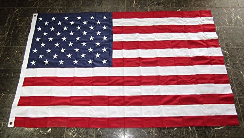 AES 5x8 Embroidered Sewn USA US American 600D Solarmax Nylon Flag 5'x8' Grommets
