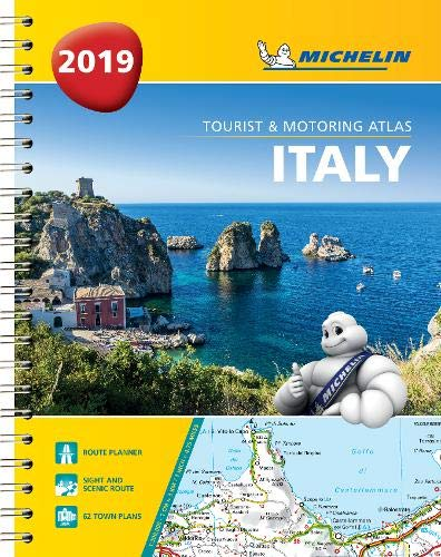 Italy - Tourist and Motoring Atlas 2019 (A4-Spirale): Tourist & Motoring Atlas A4 spiral (Michelin Road Atlases) (Italy Driving Map)
