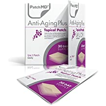 Anti-Aging Topical Patches Pack By PatchMD - Effective Ingredients Complex - Features Antioxidant & Nourishing Properties - Rejuvenating Resveratrol & Vitamins - Easy To Use Supplement - 30 Day Supply