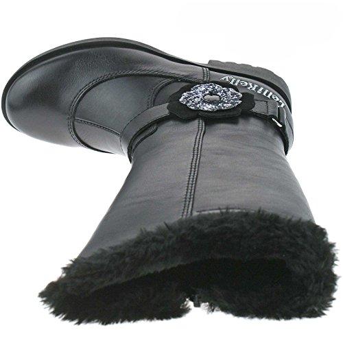 Lelli Kelly LK8596 (CB01) Sophia Nero Pelle Boots-26 (UK 8)